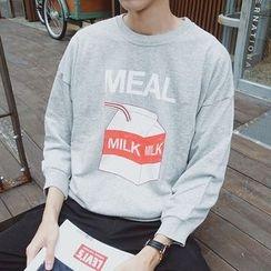 Arthur Look - Milk Carton Print Pullover