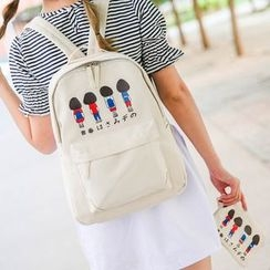 Crystal - Set: Print Backpack + Pouch