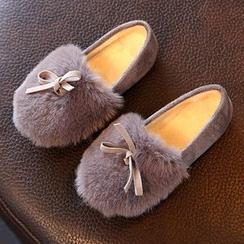 綠豆蛙童鞋 - 童裝毛毛平跟鞋