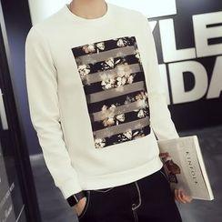 Besto - Floral Print Sweatshirt