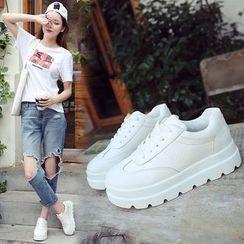 Simply Walk - Hidden Wedge Platform Sneakers