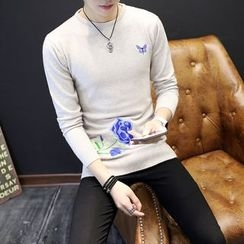Wild Dragon - Embroidered Sweater