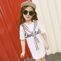 Lemony dudu - Kids Short-Sleeve Tie Neck T-Shirt