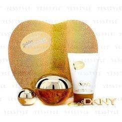 DKNY - 璀璨金蘋果組合:香水噴霧 100ml/3.4oz+身體潤膚乳 100ml/3.4oz+香水小樣+ 鑰匙鏈