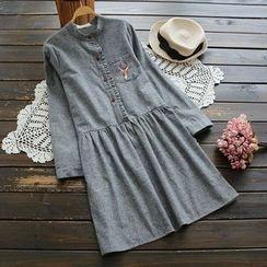 YOYO - 刺繡襯衫連衣裙