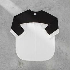 匡億 - 中袖拼接T恤