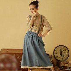 Moriville - Denim Maxi Jumper Skirt