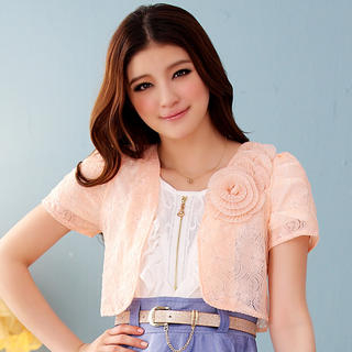 JK2 - Flower-Detail Lace Bolero