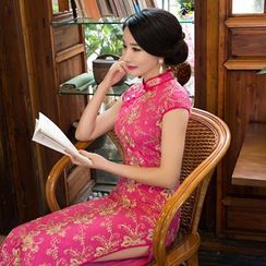 Maura Qipao - 盖袖绣花旗袍