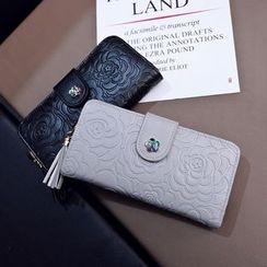优尚良品 - 碎花压纹长款钱包