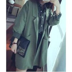 Sienne - 3/4 Sleeved Open Front Oversized Blazer