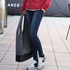 Seoul Fashion - Brushed-Fleece Lined Skinny Jeans
