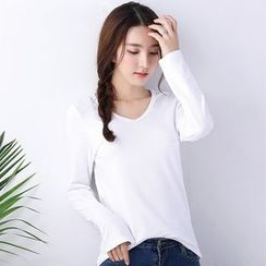 Grainie - Long-Sleeve V-Neck T-Shirt