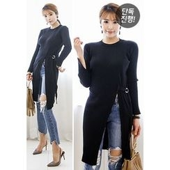 INSTYLEFIT - Cutout-Front Long Knit Top