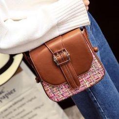 Rosanna Bags - Tweed Panel Buckled Shoulder Bag