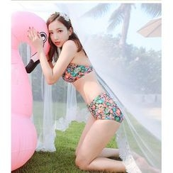 Sweet Splash - Set: Floral Bikini + Cover