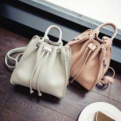 Pandabada - Faux-Leather Backpack