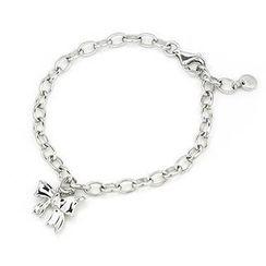 Bling Bling - Bling Bling Platinum Plated 925 Sterling Silver Sweet Ribbon Bow Knot Bracelet