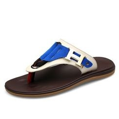 EnllerviiD - Genuine Leather Flip-Flops