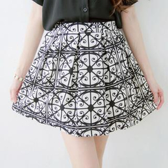 Tokyo Fashion - Pleated Patterned Skirt