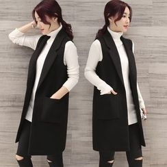 Alisha - Double-Breasted Long Vest