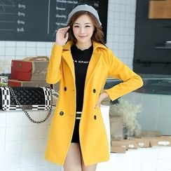 Swish - Plain Double Breasted Coat