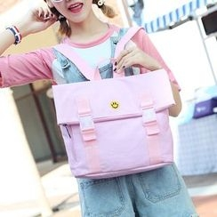Jackpot Queen - Smiley Face Embroidered Canvas Backpack