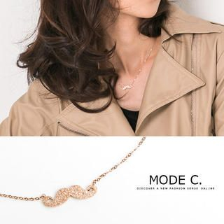 MODE C. - Mustache Short Necklace