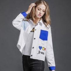 MIUCO - Embroidered Denim Jacket