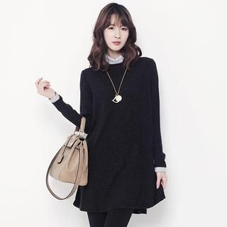 Stylementor - Mock-Turtleneck Mini Sweater Dress