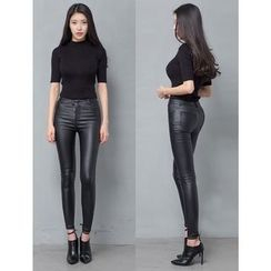 GUMZZI - Faux-Leather Skinny Pants