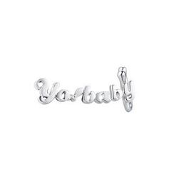 MBLife.com - Left Right Accessory - 'Yo!baby' 925 Sterling Silver Playful Word Single Earring, Women Fashion Jewelry