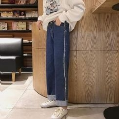 Tiny Times - Panel Wide Leg Jeans