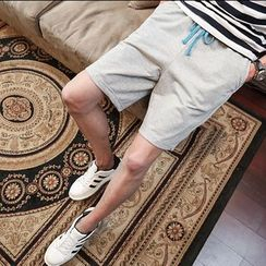 Edway - 纯色运动短裤