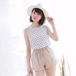 Tokyo Fashion - Sleeveless Printed Top
