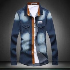 Blueforce - Print Denim Shirt