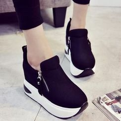 Yoflap - Platform Side Zip Sneakers