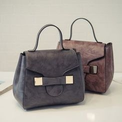Nautilus Bags - Faux Leather Satchel