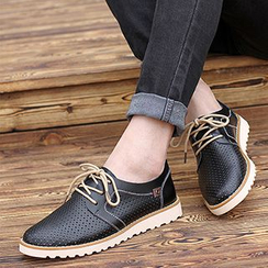 NOVO - Lace-Up Genuine Leather Shoes