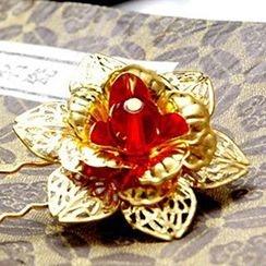 Paparazzi - Flower Bridal Hair Pin