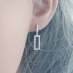 Love Generation - Rhinestone Sterling Silver Earrings
