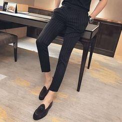 Orizzon - 條紋窄身褲
