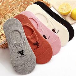 MissYou - 小貓印花船襪