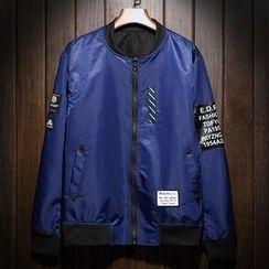LIBIN - Applique Bomber Jacket