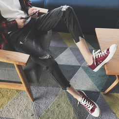 子俊 - 做旧九分牛仔裤