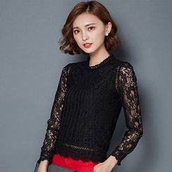 Romantica - Long-Sleeve Lace Top