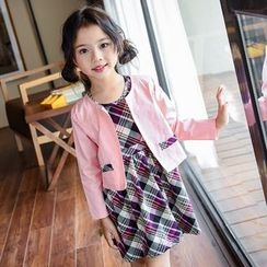 Famula - Set: Kids Jacket + Plaid Dress