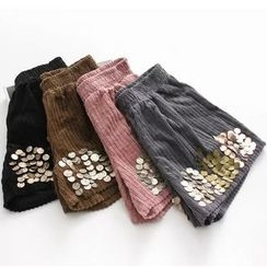 Citree - Sequined Corduroy Shorts