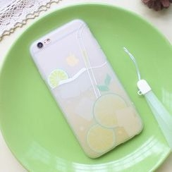 Sakuran - Fruit Print Mobile Phone Case with Neck Strap - Apple iPhone 6 / 6 Plus