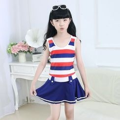 Aqua Wave - Kids Striped Swimdress